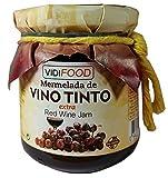 Confettura Extra di Vino Rosso Artigianale - 210 g - All'Origine Spagnola - Fatta in Casa, la Migliore Qualità ed al 100% Naturale - Ampia Varietà di Sapori