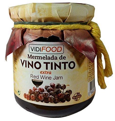 Mermelada Extra Artesanal de Vino Tinto - 445 g - Procedente de España - Casera & 100% Natural