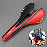 AmaZeus TOSEEK Road Bike Carbon Fiber Seat Bicycle Hollow Seat Saddle, 3K Texture