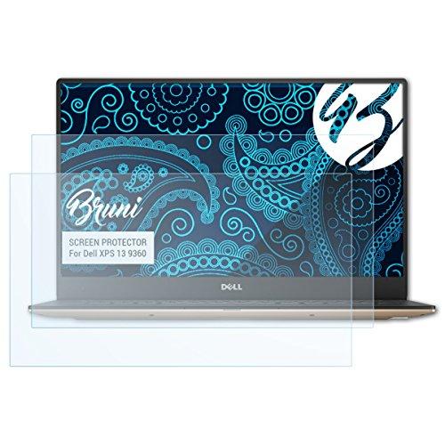 Bruni Schutzfolie kompatibel mit Dell XPS 13 9360 Folie, glasklare Bildschirmschutzfolie (2X)