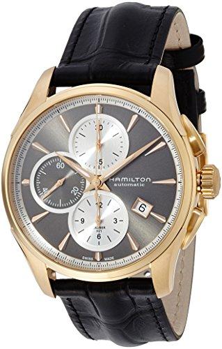 Hamilton H32546781 - Reloj, Correa de Cuero Color Negro