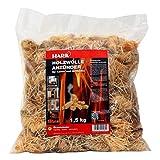 Hark lana de madera encendedor de saco a 1,5 kg de madera de lana de madera chimenea estufa