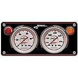 Longacre 52-44430 Sportsman Aluminum 2 Gauge Panel, OP, WT