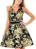 Kocca Abito Vestito Donna Casual Chic con Stampa Gold Dress