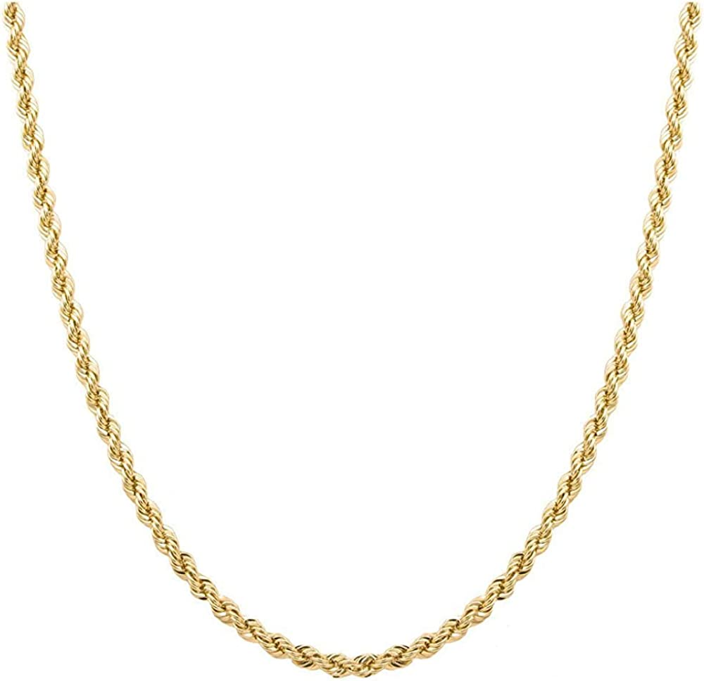 lowest price MCS Jewelry 10K Gold 2MM 3MM Cut Rope 4MM Chain Discount is also underway Diamond Neckl