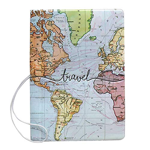 World Map Travel Passport Cover / Holder / Wallet / Protector with Card...