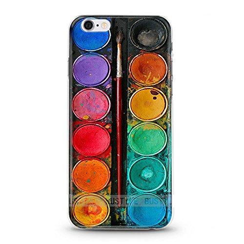ITGM Hülletic | iPhone 7, 7+ Schutzhülle TPU Hülle Cover Handyhülle Bumper leichte Handytasche Hülle mit Foto Silikon Hülle Hüllen Sorgen für kratzfesten Schutz … (iPhone 7, Tuschkasten)