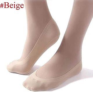 Mujeres Señoras Niñas Calcetines Invisibles Antideslizantes Verano Verano Calcetines Ultrafinos Negro/Piel/Piel Oscura Botines Bajos Calcetines De Hielo Beige