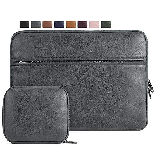 NEWHEY Custodia PC Portatile 15-15.6 Pollici Compatibile con MacBook PRO, Ultrabook, Notebook, Impermeabile Custodia Borsa, Laptop Sleeve Case con Piccola Borsa per Accessori, Grigio