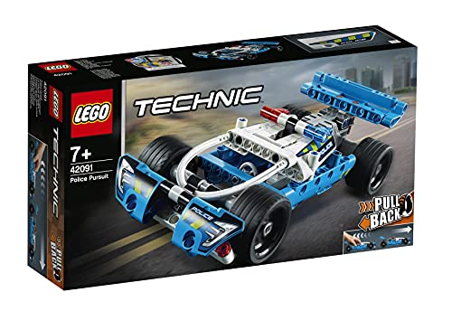 LEGO Technic InseguimentodellaPolizia, Macchina Dotata di Motore Pull-Back, Set da Costruzione per Bambini e Bambine dai 7 Anni in su, 42091