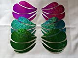 glitter little mermaid seashell bra iron on decal / heat transfer vinyl / gold or silver t-shirt designs / Christmas costume / New years eve costume diy / mermaid party shirt decals
