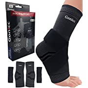 gonicc Professional Foot Sleeve Pair(2 Pcs) with Compression Wrap Support, Breathable, Stabiling Ligaments, Prevent Re-Injury, Boots Circulation, Soothe Achy Feet, Reduce Swelling, Ankle Brace 63