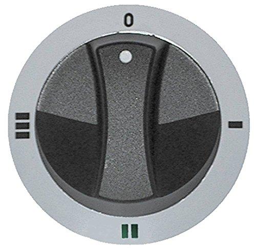 Juno Knebel für Kochkessel Electrolux JUN75803, JUN77833, JUN75813, JUN75823 ø 77mm Schalter 4-Takt für Achse ø 6x4,6mm silber