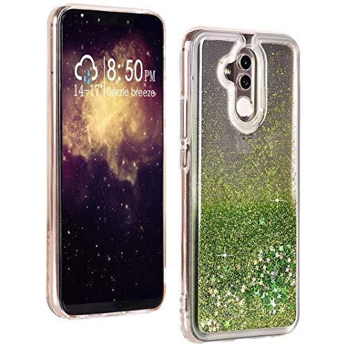 Compatible con Huawei Mate20 Lite Líquido Fundas, Suave Protectora Carcasa Líquido Glitter Brillante Arena Movediza Anti-arañazos Transparente Caso Compatible con Huawei Mate 20 Lite Líquido Funda