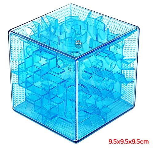MTGYF Große 3D-Labyrinth-Zauberwürfel Zauberwürfel Sechseitiger Durchgang Labyrinth Stahlkugel Walking Ball Kinder Farbe Transparent Puzzle Spielzeug, Einzelnes Spiel, Übung Geduld