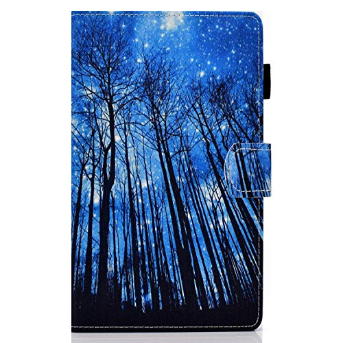 zl one Compatible con/Reemplazo para Tablet PC Samsung Galaxy Tab A 8.0 2019 SM-T290 / T295 PU Funda de cuero Flip Cover Stand Magnetic Wallet Case (Tree)