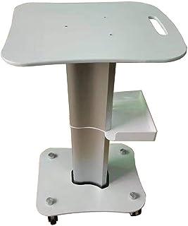 KANJJ-YU Hôpital Chariot, fournitures médicales Rack, Salon de beauté Panier Argent médical Chariots de roulement avec poi...