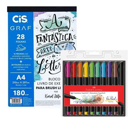 Kit Bloco para Brush Lettering + Brush Pens CIS