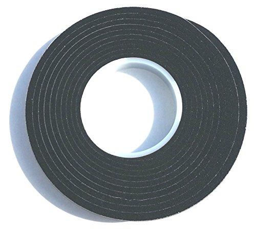 4,3m Komprimierband 20/8 Bandbreite 20mm, Acryl 300, expandiert von 8 auf 40mm, anthrazit, vorkomprimiertes selbstklebendes Dichtungsband Kompriband Fugendichtband Fensterdichtband Quellband