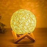 LLK Luz Nocturna, Materiales de ratán, lámparas LED de bajo Consumo con Marcos de Madera, Juguetes Luminosos para iluminación Nocturna, decoración de Habitaciones y obsequios a los niños
