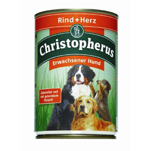 Allco | Christopherus Erwachsener Hund Rind + Herz | 6 x 400 g