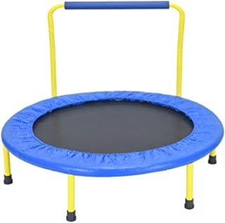 Trampoline Trampoline with Armrests, Portable Sports Kids Bounce Bed, Jumping Mat and Spring Cover Mat, for Weight Loss Ae...
