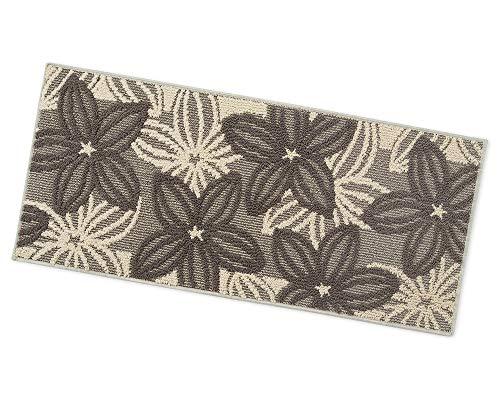 ARREDIAMOINSIEME-nelweb Tappeto Cucina Floreale Tessitura 3D Retro Antiscivolo Moderno Multiuso Passatoia Corridoio Bagno Camera MOD.Enea 50x115 Beige (A)