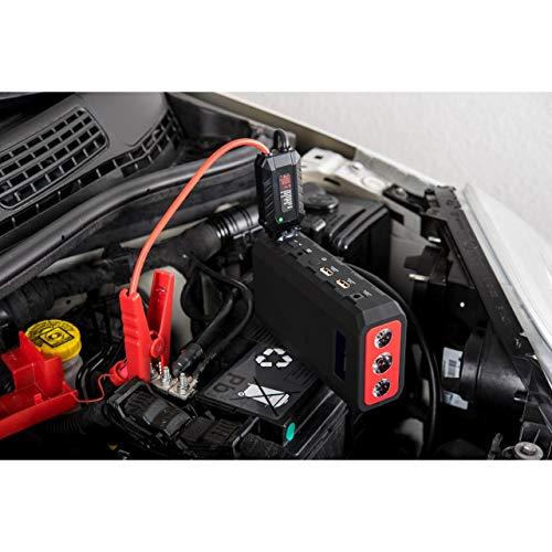 Absaar 10610 Jumpstarter MJS 1000 3 in 1, tragbare Autostarthilfe 18.000m Ah, 12V-Lithium-Starthilfe-Powerbank, Batteriestarter, 18.000 mAh