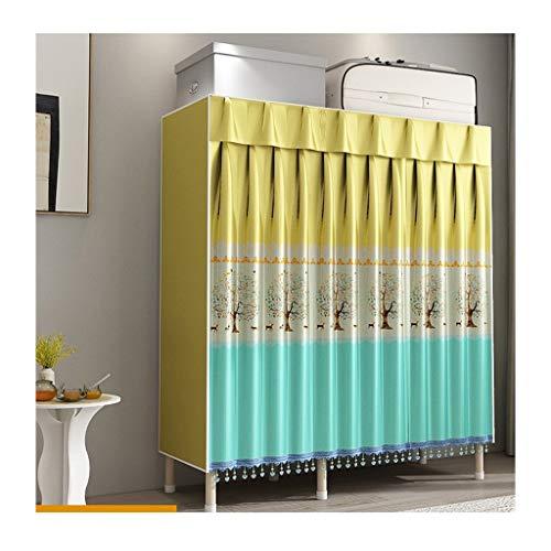 LJP Armario de almacenamiento portátil para armario, estantes de armario, organizador rápido y fácil de montar, extra fuerte y duradero (color: A)