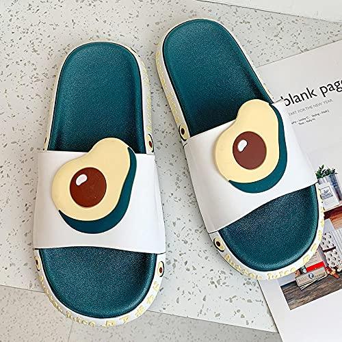 Zapatillas de Estar por casa Mujer Invierno,Las Mujeres Usan Sandalias y Zapatillas en Verano, baños de celebridades de la Red Interiores de Moda, Zapatillas de Playa Lindas con Solas Gruesas antides