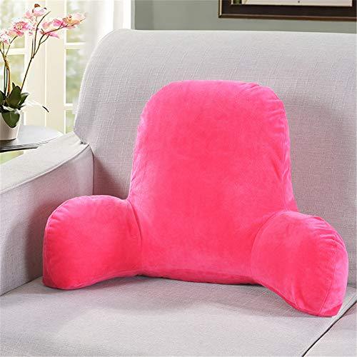 RAILONCH Cojín de lectura, cojín de peluche para la espalda, cojín en cuña, para el sofá, la silla de oficina, para leer, color rojo, 58 x 40 x 25 cm