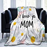 "7. Happy Mother's Day Blanket Throw, Flannel Fleece Microfiber Lightweight Soft Cozy Luxury for All Season in Home Bed Sofa Chairs Dorm 80""x60"" Blanket for Adults"
