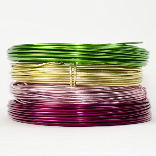 FLORISTEN - ALUMINIUM-DRAHT Ø2mm x 12m ROLLE, Deko Deco, Farbe: Rosa / Rose