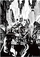 【バットマン&キャットウーマン/ラインアート (ポスター賞) 】 ベアブリック HAPPYくじ DC BE@RBRICK