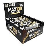 NPN MAX 100 Barre de protéines et de glucides | Barre protéinée pour le sport, goût premium | 9x100g Croquant aux amandes et au caramel