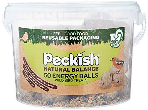 Peckish Natural Balance Energy Suet Fat Balls for Wild Birds, 50 Tub, 27 x 27.5 x 19 cm