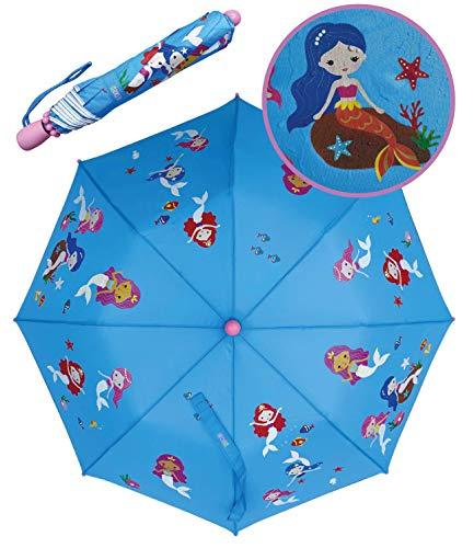 Paraguas mágico Plegable HECKBO© de niños con Dibujos de sirenitas – Si...
