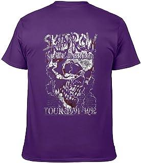 Skid Row スキッド・ロウ バンドTシャツ 半袖 クルーネック 2020創意デザイン ファション 吸汗速乾 後ろプリント おしゃれ 春 夏 秋 メンズ