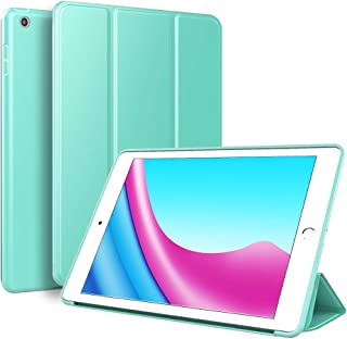 Kenke iPad Case 9.7 for 2017/2018,Ultra Slim Lightweight Smart Case TPU Soft Silicone Stand with Auto Sleep/Wake for iPad Cover 9.7 inch iPad 5th/6th Generation-Mint Green