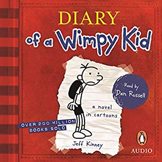 Diary of a Wimpy Kid     Diary of a Wimpy Kid, Book 1               By:                                                                                                                                 Jeff Kinney                               Narrated by:                                                                                                                                 Dan Russell                      Length: 2 hrs and 21 mins     4 ratings     Overall 5.0