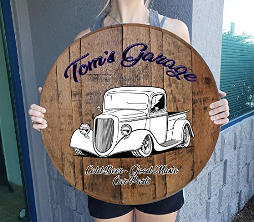 Rustic Wall Decor Personalized Custom Classic Muscle Car Truck Gift Man Cave Bar Sign for Gift Man...