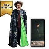 Dickie Toys 209454002 Tarnumhang, Capa Invisible con aplicación, Capa mágica, Santos de la Muerte, Disfraz de Harry Potter, Multicolor