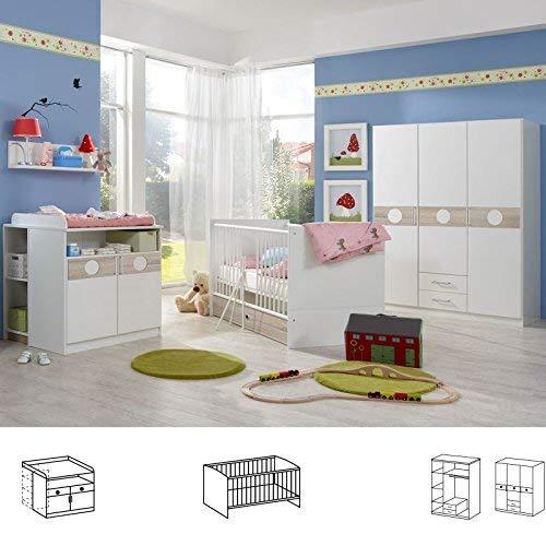 Wimex Babyzimmer Set Kimba, (B/H/T) 135 x 181 x 58 cm, Weiß