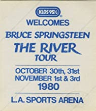 Bruce Springsteen 1980 Backstage Pass KLOS Radio Promo L.A. Sports Arena