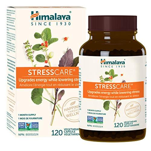 Himalaya StressCare, améliore l'énergie tout en réduisant le stress, 120 capsules végétariennes, 1 mois d'approvisionnement