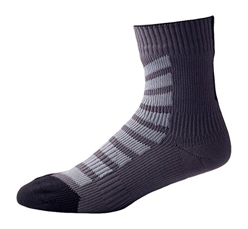 MTB Ankle With Hydro Stop 111162000110 Chaussettes Mixte Adulte, Anthracite/Charcoal/Black, FR : S (Taille Fabricant : S)