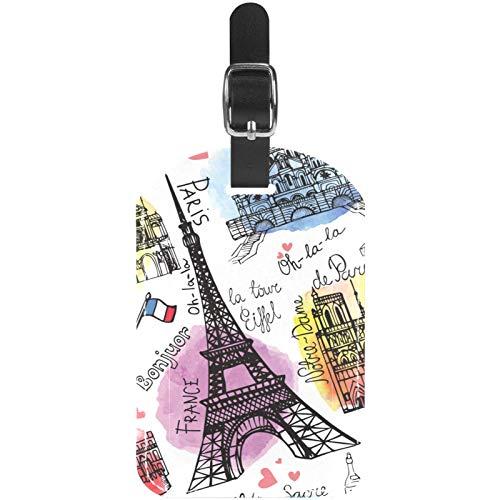 Gepäckanhänger Vintage Paris Eiffelturm Postkarte Leder Reise Koffer Etiketten 1 Packungen