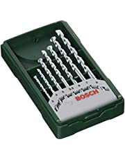 Bosch Professional 2607019581 Bosch Mini X-line - Set de 7 brocas para piedra (Ø 3/4/5/5,5/6/7/8 mm), Piezas