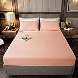haiba Sábana bajera o fundas de almohada de franela de algodón cepillado, térmica, suave y acogedora, 150 x 200 cm + 26 cm