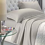NuvolaNera Set completo lenzuola letto Delux in raso di cotone con federe – alta qualità effetto cangiante – 2 Piazze Matrimoniale - Tortora